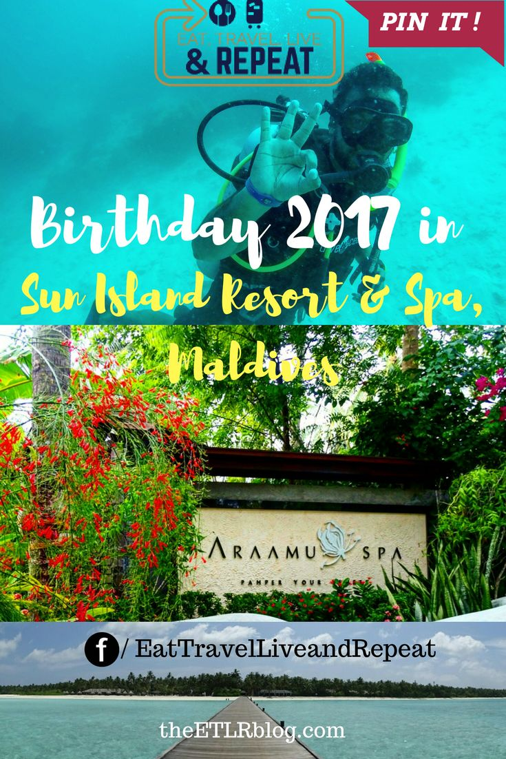 My birthday in 2017 is going to be a special memory forever, thanks to the lovely hospitality of everyone at Sun Island Resort and Spa, Maldives. It is highly recommended to plan a trip here to the Maldives specially during your birthday or anniversary.