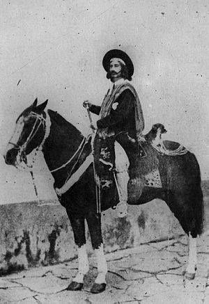 Juan Moreira  - nacio en Flores en 1829 y murio en Lobos, el 30 de abril de 1874, fue un gaucho argentino, y un personaje histórico que ha sobrevivido en el folclore popular de su país, adquiriendo su vida ribetes casi legendarios.