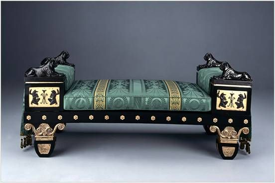 Thomas Hope's Egyptian Sofa. A Regency Egyptian revival settee designed by Thomas Hope (1769-1831) for the Egyptian Room at his Duchess Street residence in London, c. 1802,