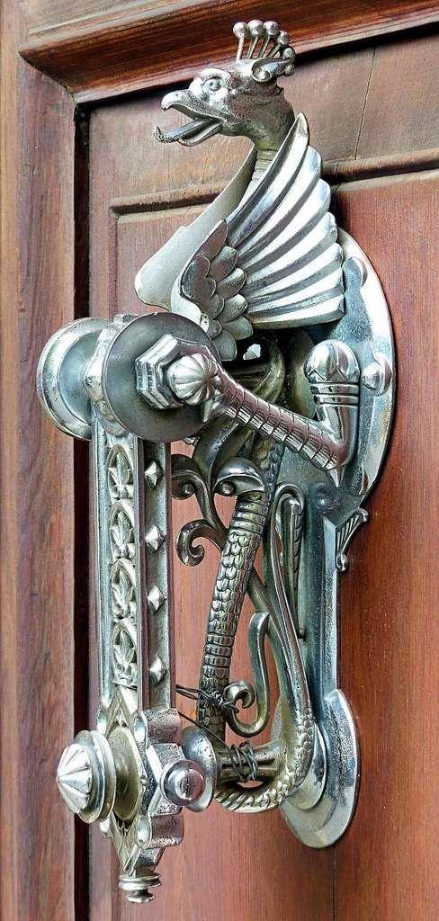 kreative Türklopfer klinke drachen metall stahl