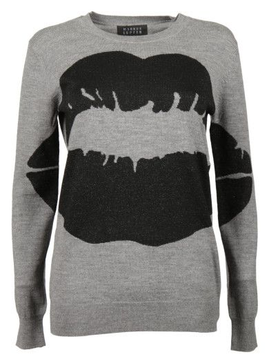 MARKUS LUPFER Markus Lupfer Big Smacker Lip Sweater. #markuslupfer #cloth #sweaters