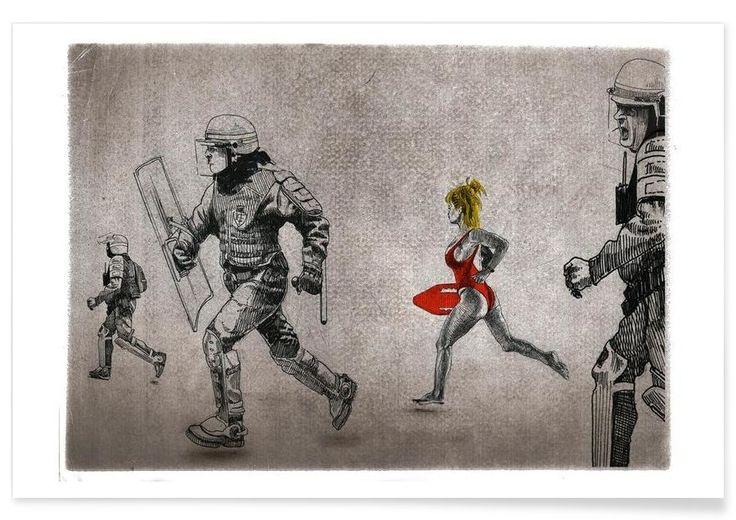 Soldier Street Art. Pamela Art Print by Alex Egea now on Juniqe.com   Art. Everywhere.