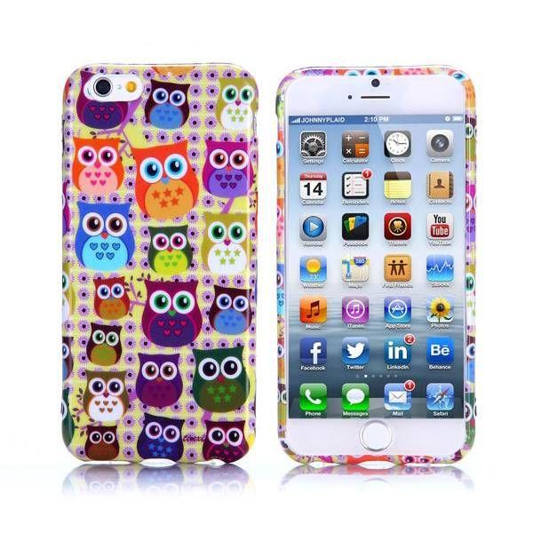 Kleurrijke uiltjes TPU hoesje voor iPhone 6 Plus