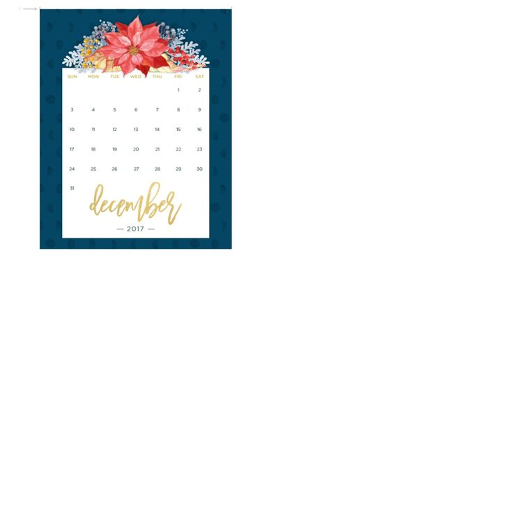 here Is the April To december free Printable 2017 Monthly Calender