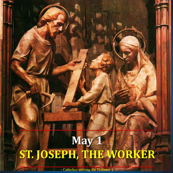 May 1 St. Joseph, the Worker Summary vid + full text This feast was instituted in 1955 by Pope Pius XII and is celebrated on May 1, which is the day when labor is honored in many countries. In the … ~ Catholics Striving for Holiness