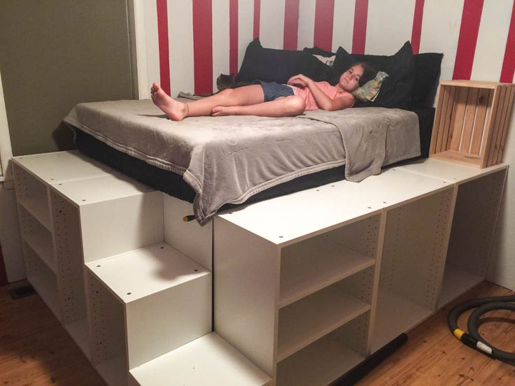 best 25 ikea platform bed ideas on pinterest diy bed frame space saving beds and diy. Black Bedroom Furniture Sets. Home Design Ideas