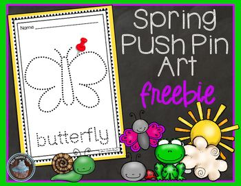 Spring Break is almost here!  Thank you teachers for all you do...you've earned your break!  Here is a little Spring FREEBIE from Miss Hellen's Hippos. :)  If you download, I'd love some feedback!  Thank you!Included in this product:12 individual Spring themed pieces of push pin art.