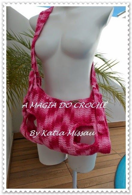 A MAGIA DO CROCHÊ: Bolsa Pet para Transporte de Cães; Cute dog carrier sling or purse!