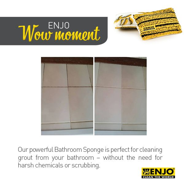 ENJO Wow Moment with the super tough Bathroom Sponge.