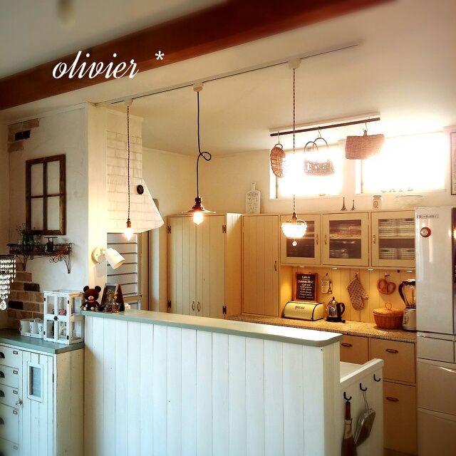 フレンチな家作り/キッチンカウンターDIY/キッチンボードDIY/キッチンカフェ化計画…などのインテリア実例 - 2014-03-23 17:34:10 | RoomClip(ルームクリップ)