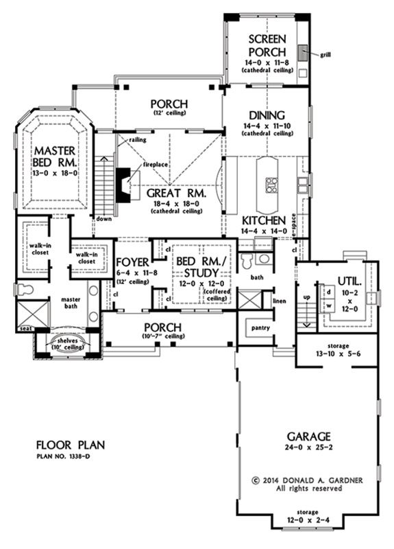 Basement Study Room: No Basement And Change Pantry To Mechanical Room, Study To