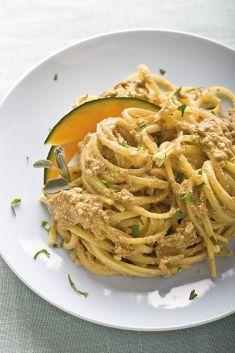 Bavette con salsa di zucca, tofu e funghi - Tutte le ricette dalla A alla Z - Cucina Naturale - Ricette, Menu, Diete