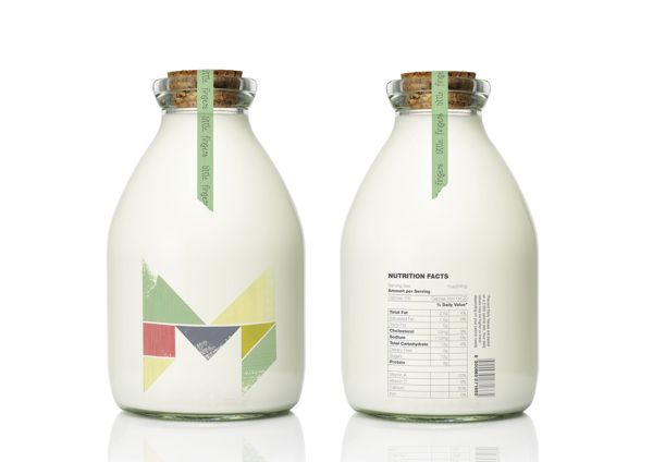 """Little Fingers"" kids milk packaging #design #packaging #milk"