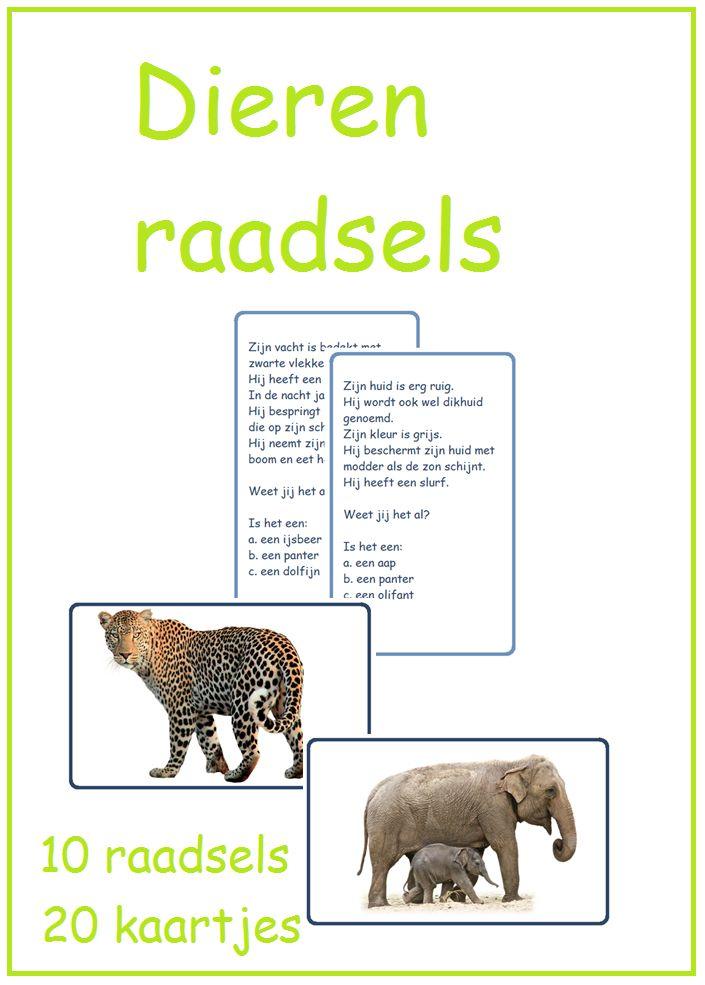 Bij thema 10 een fantastisch pakket met allemaal leesspelletejs rond het thema dieren.
