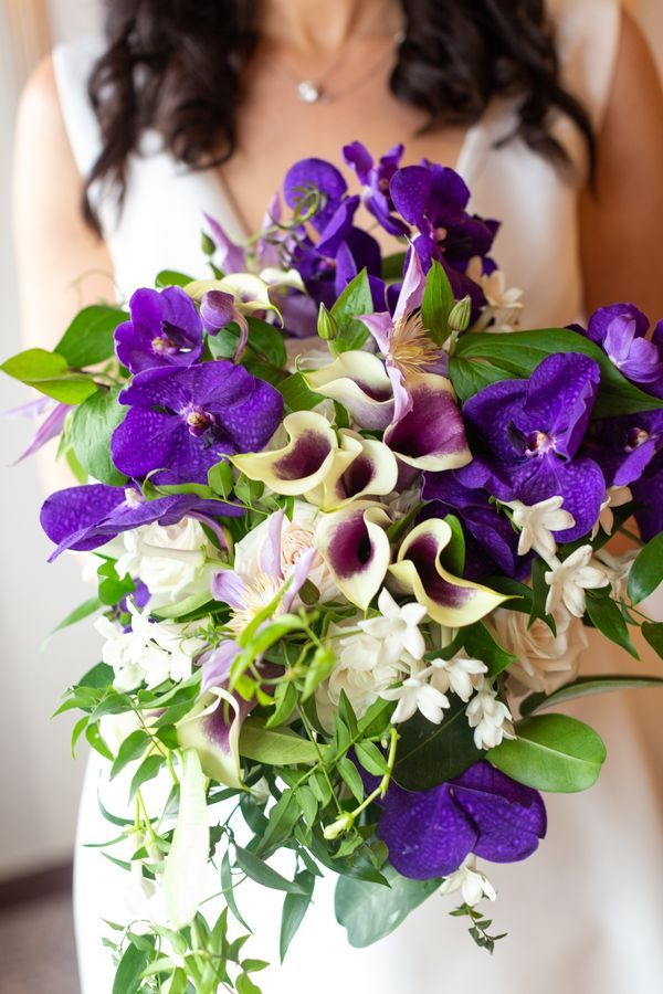 Purple Orchid And Calla Lily Bouquet Lily Bouquet Calla Lily