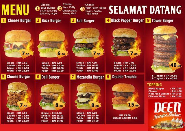 Deen Burger Menu Burger Resep Blogging