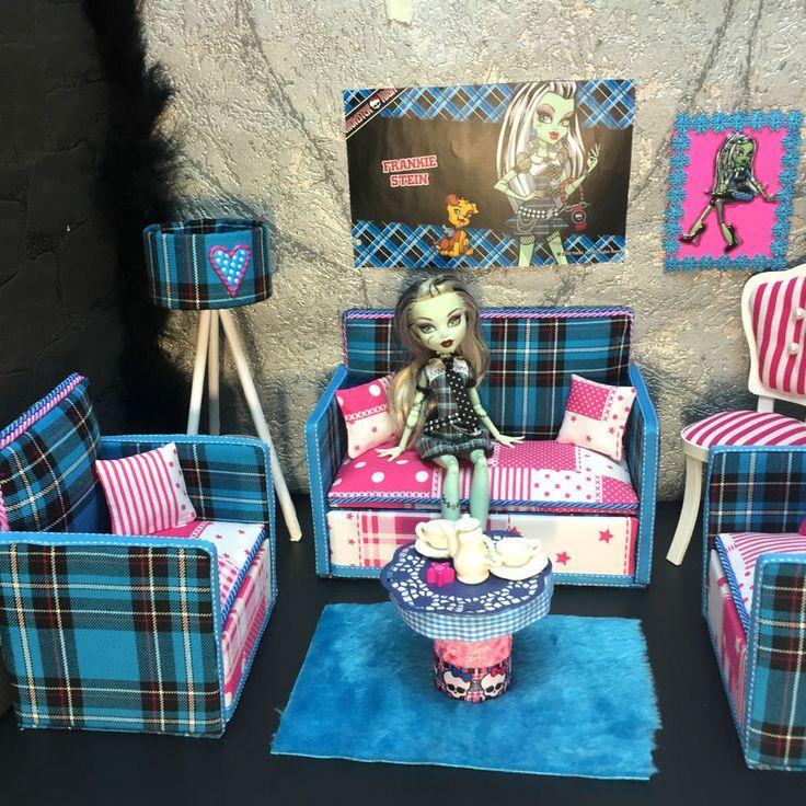 Fresh pinkrosemh Couch M bel MH f r Barbie Puppenstube Monster Puppe cm High Frankie in Spielzeug Puppen