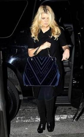 Jessica Simpson with Caravel Bag