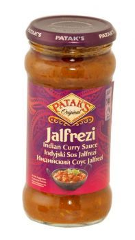 Pataks Original Indian Curry Sauce 350g Jalfrezi Medium spiced, and combines a lovely rich tomato taste, with authentic spices and the delectable flavours of coconut, sweet pepper and coriander.