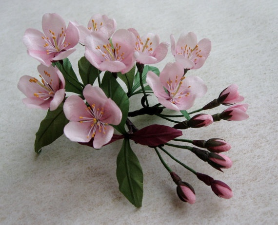 Can you find anything symbolising spring more than this cherry blossom corsage?