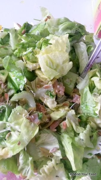 Lunch salade met zalm - Mind Your Feed