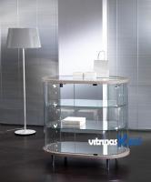 Vitrinas Kloof | Vitrina mostrador de joyería ovalado 203 OB