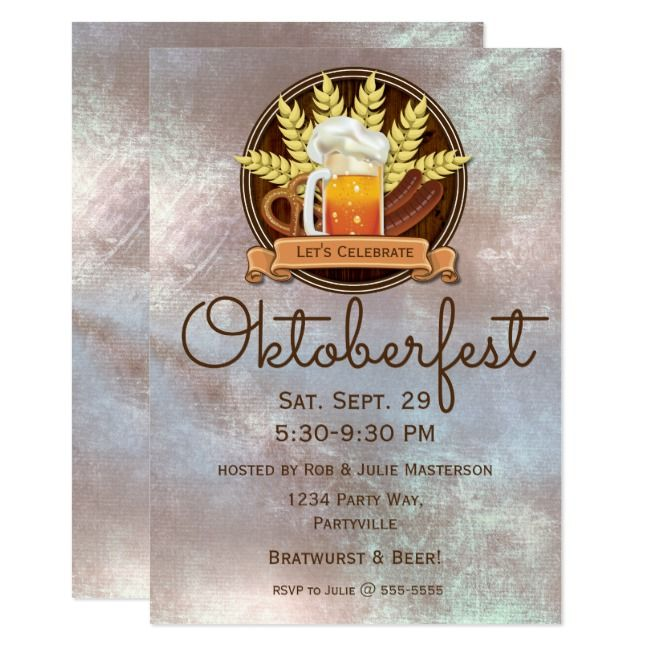 Oktoberfest Beer Sausage Pretzel Logo, wood Invitation | Zazzle.com – Graphics Design Branding Behance