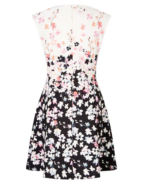 Lipsy Poppy Print Mini Skater Dress