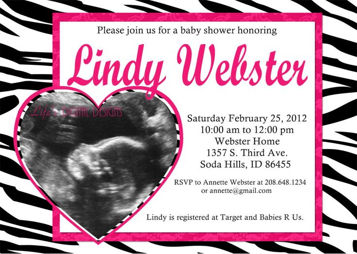 8 best baby shower images on pinterest | zebras, baby baby and, Birthday invitations
