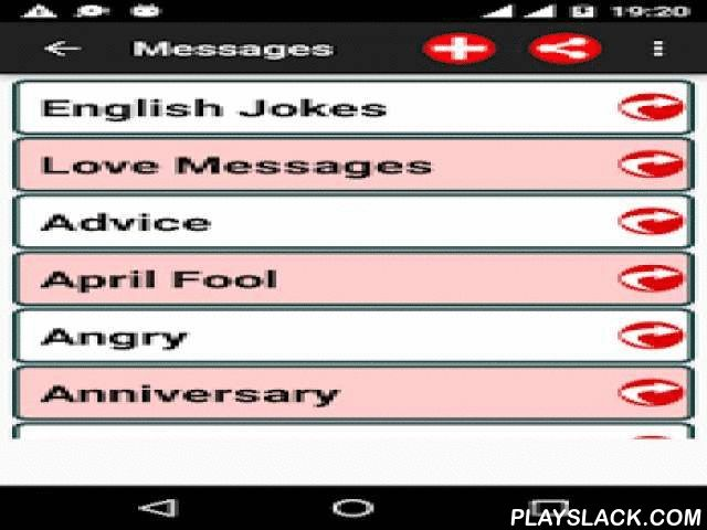Best Messages Status Jokes SMS  Android App - playslack.com ,  Send lovely messages to your loved ones on Chats, SMS, email, Social Networks on different occasions and make them feel special in every possible way.** It has the largest collection of messages for different occasions.CATEGORIES INCLUDED:----------------------------------------1. Love Messages *** Flirty sms *** Kiss *** Romantic Messages *** Funny *** Hug Day And Many More...2. Friendship Messages3. Anniversary4. Birthday5…