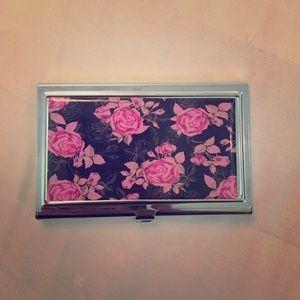 Clutches & Wallets - Floral Cardholder