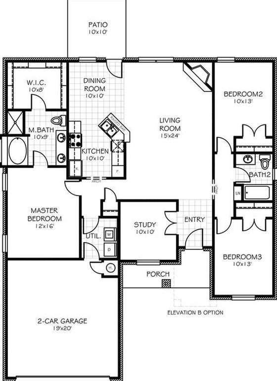 2704 Windsong Dr 8HJ1GA Midwest City OK 73130 Couple RoomFloor PlansOklahomaHomes