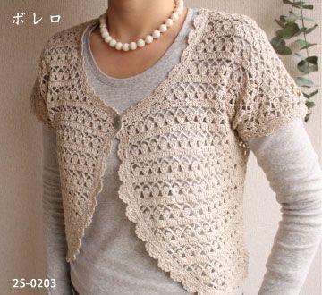 Crochet bolero with free pattern (click on PDF!)