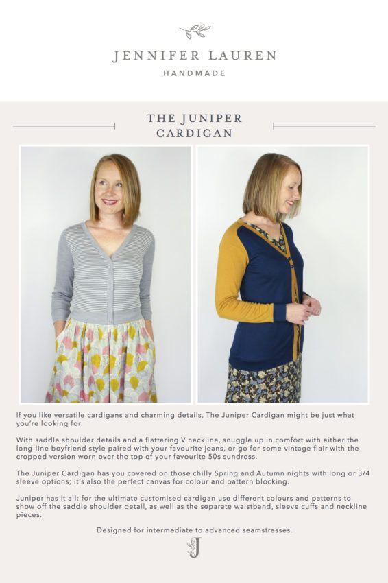 Front Cover_The Juniper Cardigan by Jennifer Lauren Handmade_INSTRUCTIONS