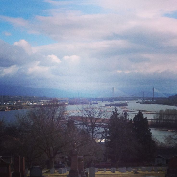 View of the Port Mann Bridge from New West BC