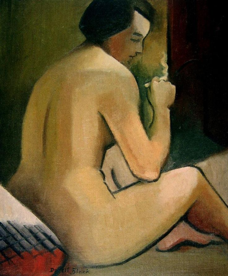 "Dorrit Black ""(Nude with Cigarette)"""