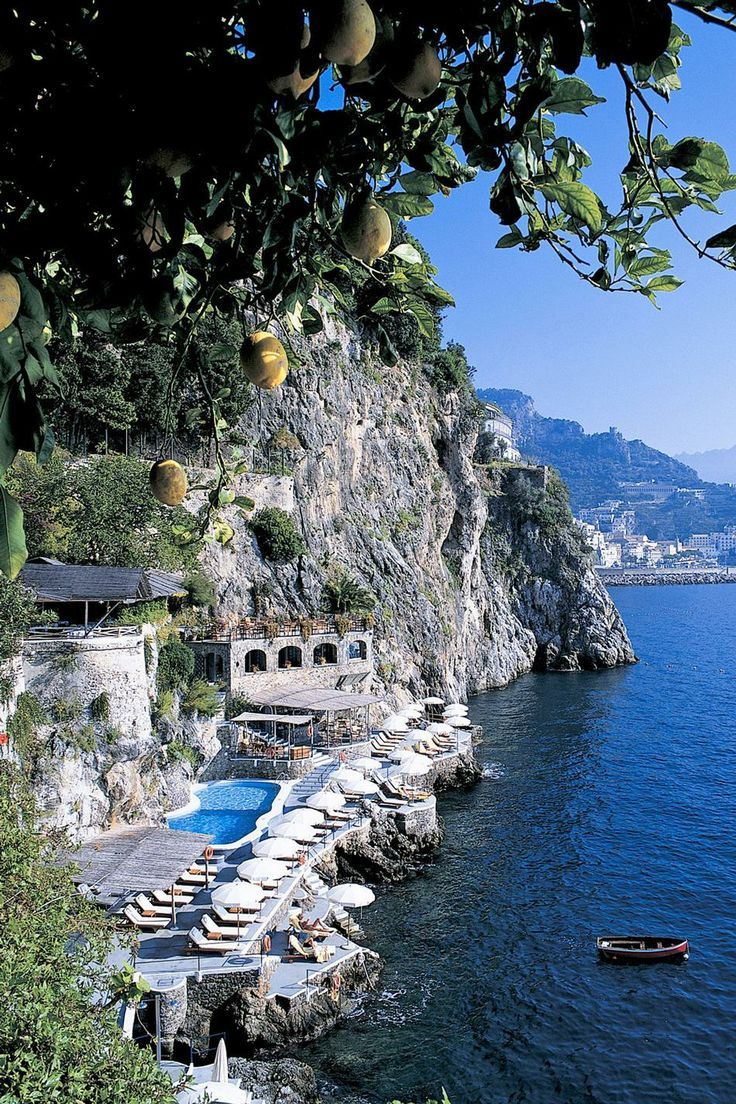 Hotel Santa Caterina on the Amalfi Coast overlooking the Mediterranean sea