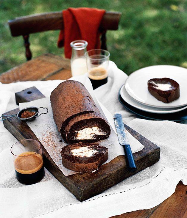 Chocolate rolled sponge