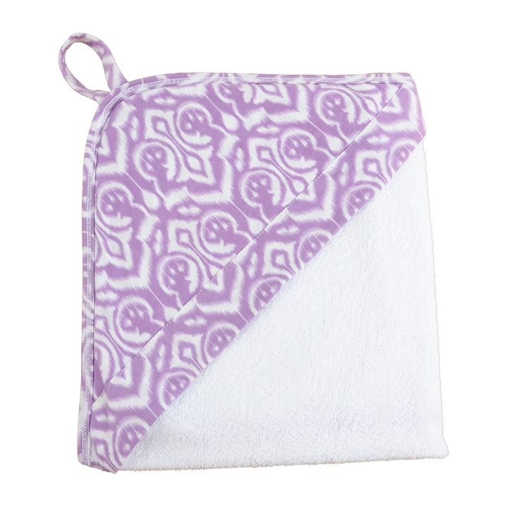 Ikat Hooded Towel. Bath and swim time has never looked so cute with our bold print hooded towels. Made from a super soft terry towel complete with a 100% cotton hood. www.wildandbliss.com