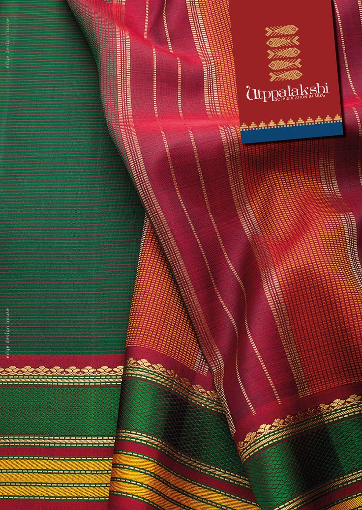 The magic of fine lines woven in the lovely bottle green saree. The border is a fine blend of silk thread and zari. A winning combination.#Utppalakshi #Sareeoftheday#Silksaree#Kancheevaramsilksaree#Kanchipuramsilks #Ethinc#Indian #traditional #dress#wedding #silk #saree#craftsmanship #weaving#Chennai #boutique #vibrant#exquisit #pure #weddingsaree#sareedesign #colorful #elite