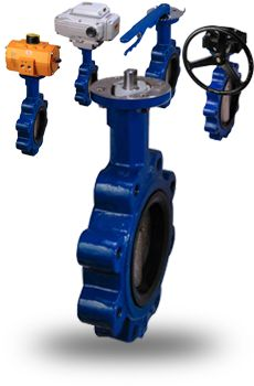ST Series ductile iron butterfly valves are rubber lined (resilient seated) with either wafer or lugged flange connections. They can be manually operated with a lever or geared hand wheel, or automated with an electric or pneumatic actuator.