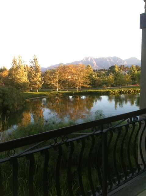 Early morning view at Sante Spa in Paarl - South Africa. #Sante #spa #Paarl