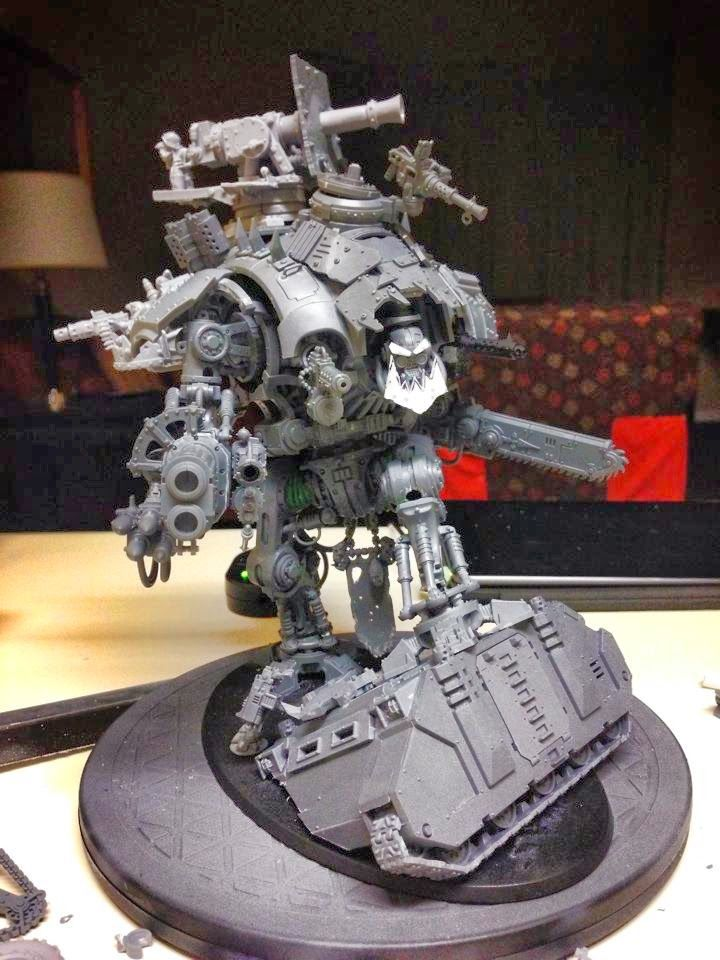 Spikey Bits Warhammer 40k, Fantasy, Conversions and Painted Miniatures: Da Deff Knight - Orky Conversion Corner