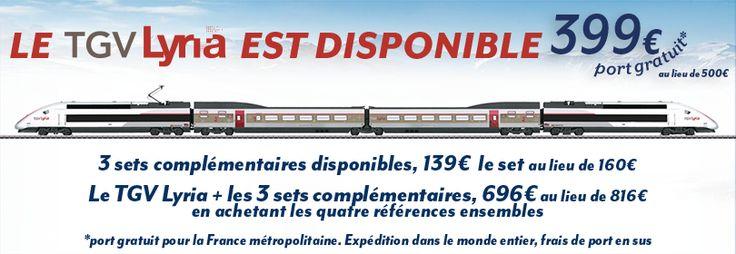 TGV LYRIA + 3 SET COMPLÉMENTAIRES