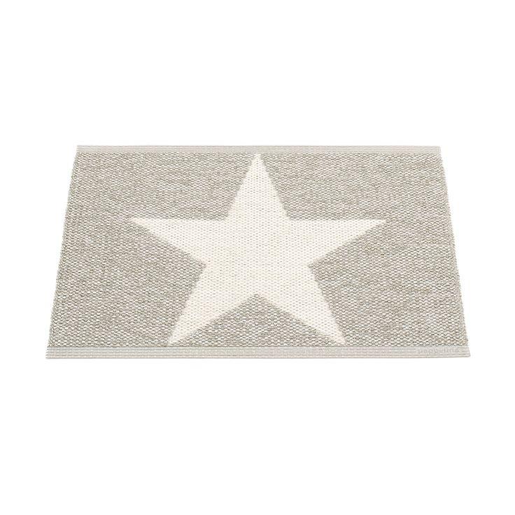 Viggo Star Gulvtæppe 70x50 cm, Stone metallic, Pappelina
