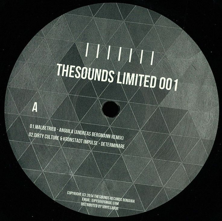 "TheSounds Limited Vinyl 12"" - Malbetrieb / Andreas Bergmann / Rhadow / Mario Aureo / Nusha / Dirty Culture / Kronstadt Impulse http://www.deejay.de/Various_Artists-Thesounds_Limited_001__140603"