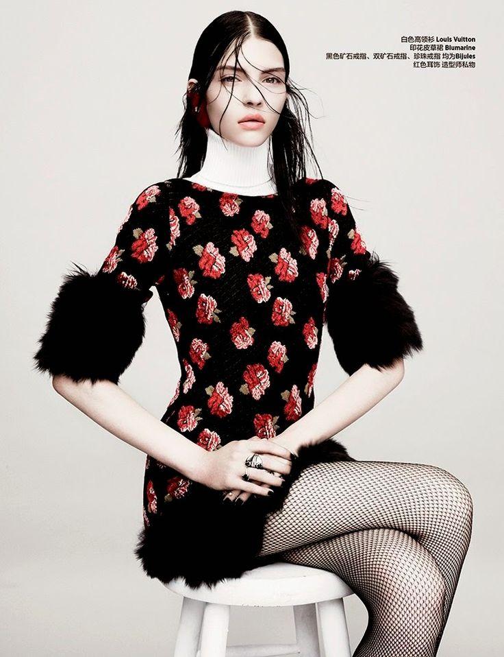 Kate Bogucharskaia by Maurizio Bavutti for Harper's Bazaar China September 2014