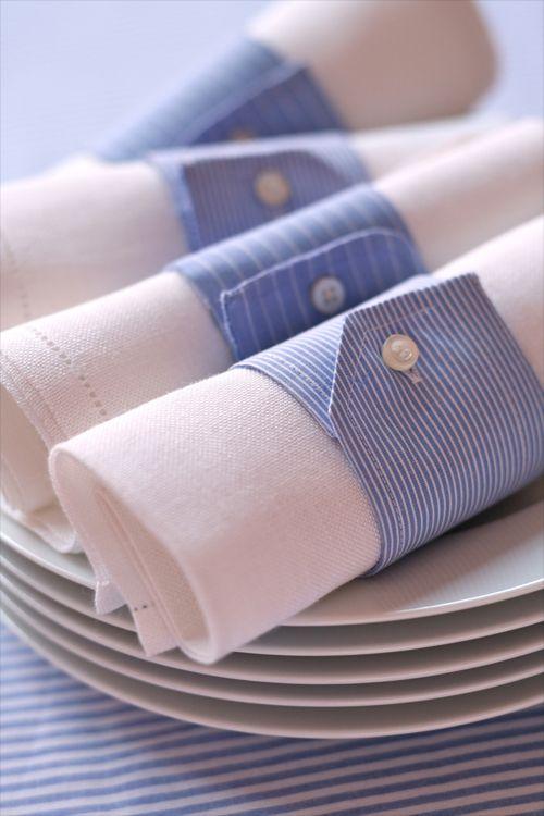 Non buttate le camicie! Idee e suggerimenti per riciclare le camicie. Come ritagliarla e inventare nuovi modi per utilizzare proprio tutti i pezzi.