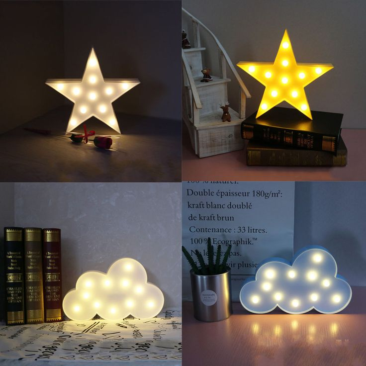 Cute 3D Star Cloud LED Night Light