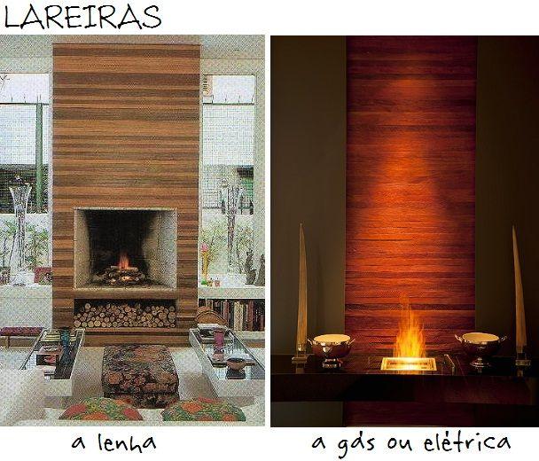 tipos de lareiras: Decoração Idéia, Brick, De Lareira
